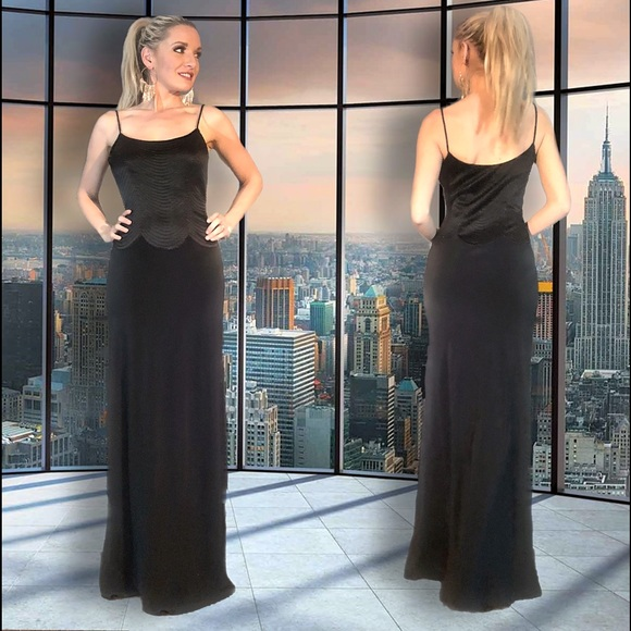 Cache Dresses | Black Drape Beading Formal Prom Evening Gown | Poshmark
